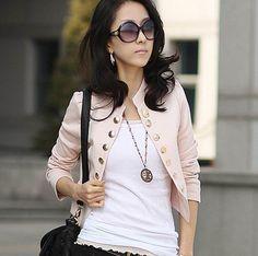 envío gratis 2013 nueva llegada de moda de la mujer baratos blazer chaqueta corta