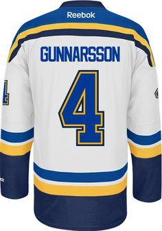 60456f01f ... St. Louis Blues Carl GUNNARSON 4 Official Away Reebok Premier Replica  NHL Hockey Jersey .