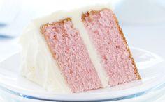 Pink Velvet Cake with Whipped Buttercream!