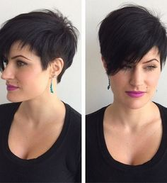 <b>Pixie</b>-<b>Haircut</b>-with-Long-Bangs-Short-<b>Hairstyles</b>-for-Long-Face-Shape