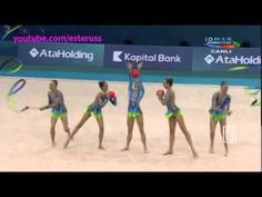 Italy 3 balls + 2 ribbons AA - European Championships Baku 2014