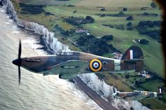 Spit Fires,over the whites cliffs of Dover, Ww2 Spitfire, Spitfire Airplane, Supermarine Spitfire, Navy Aircraft, Ww2 Aircraft, Fighter Aircraft, Fighter Jets, Military Aircraft, White Cliffs Of Dover