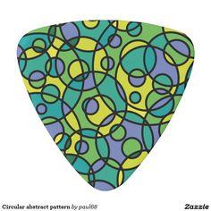 Circular abstract pattern guitar pick