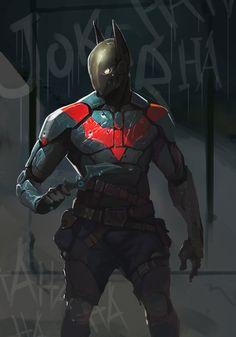 Batman Redesign by AlexTzutzy on deviantART | interesting mix...Nightwing, red hood, batman elements (maybe)