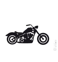 Bügelbilder - Motorrad Velours Applikation Aufbügler pimp - ein Designerstück von viilou bei DaWanda