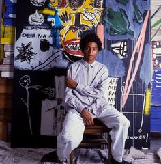 "twixnmix: "" Jean-Michel Basquiat photographed by Brad Branson, 1984. """