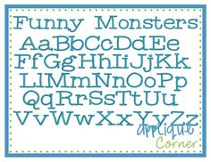 Funny Monsters font