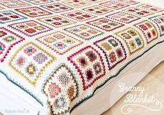 crochet / gorgeous granny blanket No pattern but would be easy to reconsruct