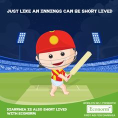 Incredible Innings Royal Challengers! Just like an entire innings can end quickly with just 95 runs, Econorm too starts to work immediately to end Diarrhea fast! #Econorm #IPL #RoyalChallengers