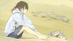 Stagnation  #loundraw #anime #momenttoself #beach #art