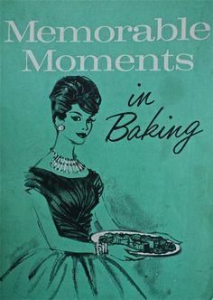 vintage baking cookbook