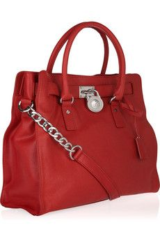MICHAEL MICHAEL KORS - Hamilton textured-leather tote @Nicole Kathryn made me want it =) bad...