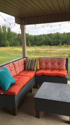 Custom Made Outdoor Replacement Patio Cushions. Photo Provided By Satisfied  Customer.