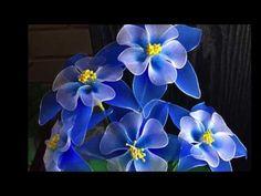 How to make nylon stocking flowers - Columbine - YouTube