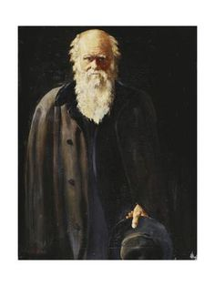 Portrait of Charles Darwin, standing three quarter length Giclee Print by John Collier at Art.com