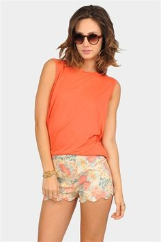 Coral top for summer