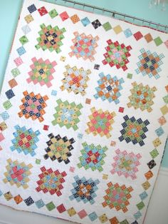 Granny Square Quilt Block Set by KountreeCreations on Etsy ... : granny square quilt pattern - Adamdwight.com