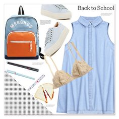 """Casual back to school outfit"" by mycherryblossom ❤ liked on Polyvore featuring Marc Fisher LTD"