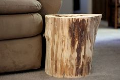 Portrayal of Wood Stump Side Table: Add Stunning and Rustic Look to A Room