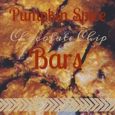 OH MY WORD! Super moist, super delicious, with the perfect blend of sugar and spice. These Pumpkin Spice Chocolate Chip bars are addictive, AND HEALTHY (shhh)! REPIN!