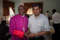Maroua, Cameroon, 2014 - Mgr. Bruno Ateba SAC and Fr. Jacob Nampudakam SAC, by Bert Meyer SAC