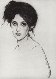 Valentin Serov  - Portrait of Izabella Grunberg, 1910