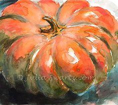 watercolor pumpkin paintings | Julia Swartz Fine Art Gallery: Pumpkin…