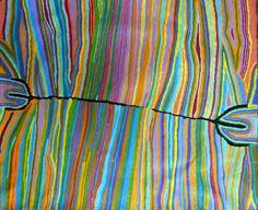 Adelaide Aboriginal Art - Artist Judy Napangardi Watson-beautiful colours