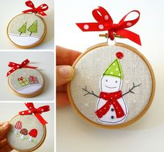 handmade Christmas decorations! These are super cute and were originally offered on etsy, they are no longer there, this is however a good picture of them