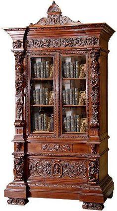 #Mahogany hand carved renaissance #bookcase!!!!