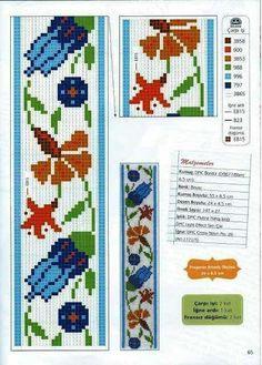 Neşe'nin gözdeleri Dmc Cross Stitch, Cross Stitch Bookmarks, Cross Stitch Patterns, Polish Folk Art, Oriental, White Crosses, Elsa, Bullet Journal, Blue And White