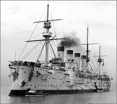 Imperial Russian Navy armoured cruiser Gromoboi during her 1901 visit to Australia.
