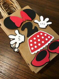 Minnie mouse birthday party favor bag goody bag goodie bag