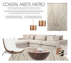"""COASTAL MEETS METRO"" by zinhome ❤ liked on Polyvore featuring interior, interiors, interior design, home, home decor, interior decorating, Pom Pom at Home, Home Decorators Collection, Lexington and Pigeon & Poodle"