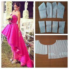 Simple beaded gown dress pattern.  Order via line : @modelliste (with @) #modellistepattern #bustierpattern #polabustier #polagown #gown #gownpattern #poladress #dress