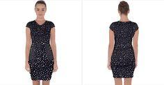 Capsleeve Drawstring Dress