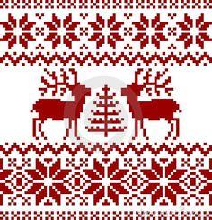 Inzameling van Kerstmis Noors patroon, die op witte achtergrond wordt geïsoleerd.