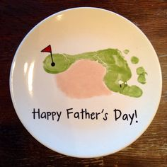 Golf Footprint Plate | Paint Your Own Pottery | Paint Your Pot | Cary, North Carolina