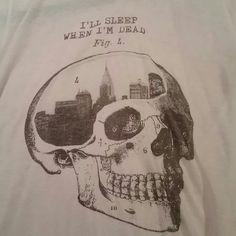 "Brandy Melville Tops - RARE brandy ""I'll sleep when im dead"" shirt"
