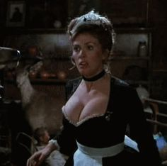 Colleen Camp in her French maid outfit, huge big tits, deep cleavage from Clue sexy gif Colleen Camp, Maid Outfit, French Maid, Sexy Gif, Hot Actresses, Things That Bounce, Boobs, How To Look Better, Women