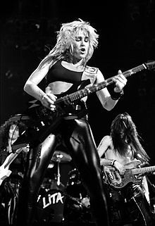 Lita Ford - American-raised rock guitarist, vocalist, and songwriter, who was the lead guitarist for The Runaways in the late 1970s before embarking on a successful solo career - Rock It Lita!