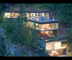 Studio NminusOne designed this amazing mountainside house in Whistler, BC, Canada.