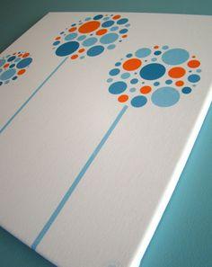 Super cute baby wall art: Orange & Aqua Modern Nursery Wall Decor by Etsy Designer Ella Rosa Design
