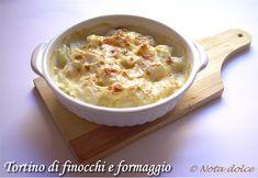 Tortino di finocchi e formaggio, ricetta gustosa