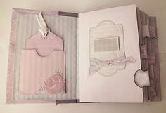 How to Bind the Shabby Chic Printable Mini Album  --  Encuadernado con hilo y…
