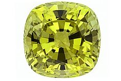 Chrysoberyl, Fig. 9.: Chrysoberyl is normally yellow, yellow-green, or a brownish gemstone, unknown in its own right due the confusion between chrysoberyl and beryl