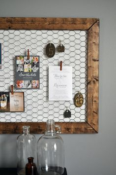 Awesome DIY memo board for kitchen or office