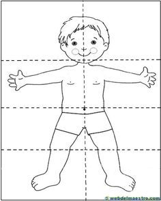 Lateralidad: puzzle Senses Activities, Toddler Activities, Preschool Activities, Preschool Puzzles, Preschool Worksheets, Body Parts Preschool, Body Craft, Childhood Education, Coloring Pages For Kids