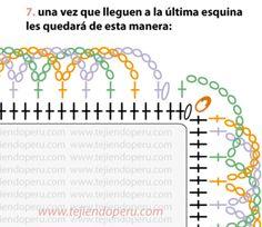 8/10 Tutorial: borde espiralado en 3 colores en crochet