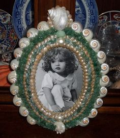 Jade Green Pearl Shell Encrusted Photo Frame - 5 x 7 | eBay